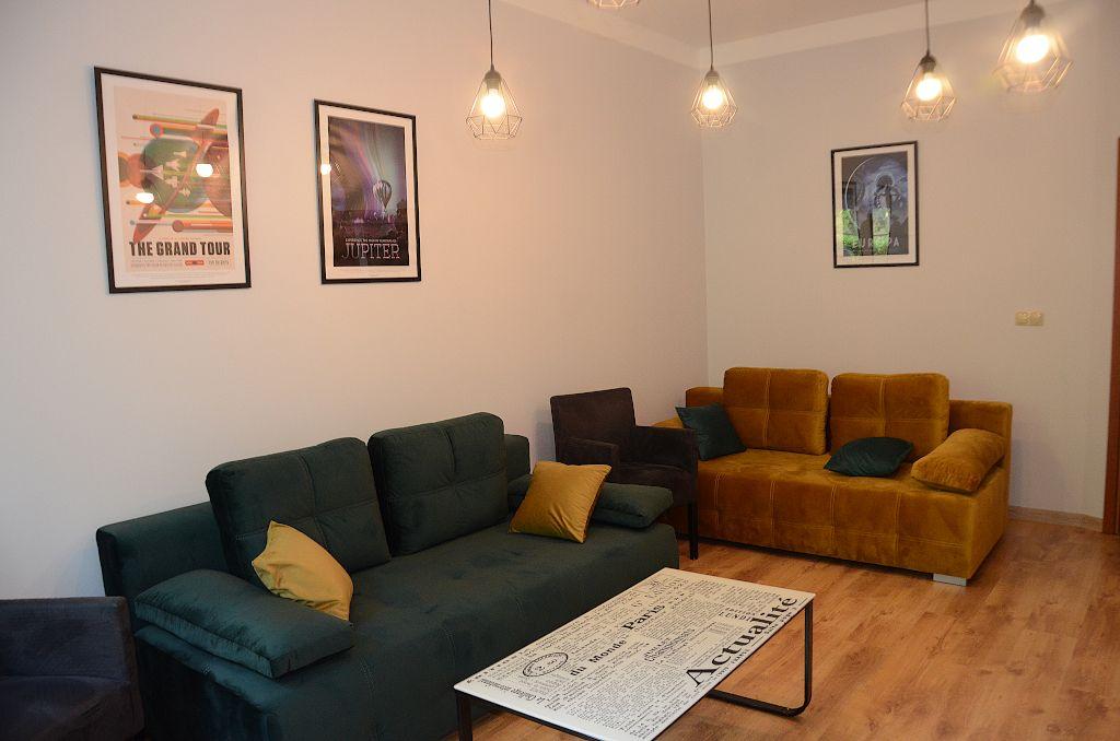 salon apartamentu fabryka endorfin w kłodzku/living room in apartment fabryka endorfin klodzko
