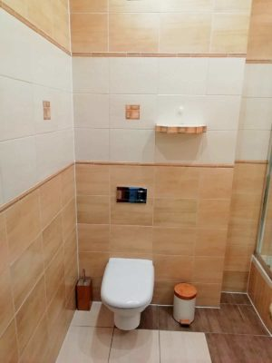łazienka wc apartamentu fabryka endorfin w kłodzku/bathroom in apartment Fabryka Endorfin Klodzko