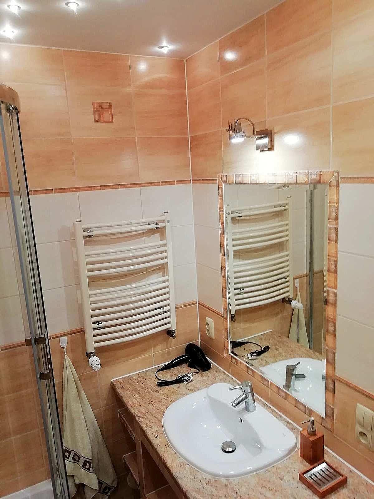 łazienka apartamentu fabryka endorfin w kłodzku/bathroom in apartment Fabryka Endorfin Klodzko