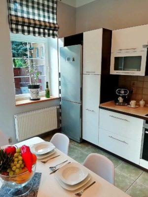 kuchnia apartamentu fabryka endorfin w kłodzku/kitchen in apartment Fabryka Endorfin Klodzko